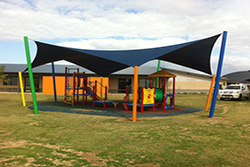 Shade Sail over Playground Equipment by South East Shade Sails